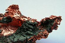 Raw copper; photo from Wikimedia Commons