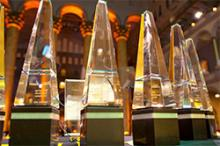 Laureate Award trophies at the Aviation Week ceremony