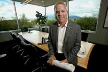 Alumnus Mike Hoover, president and CEO of Sundt Construction