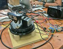 A laser drone-control device that can be mounted on the head won Hack Arizona's best hardware award.