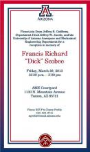 Invitation to Scobee reception