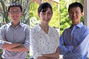 Outstanding Graduate Student Teaching Assistants Yile Hu, Samaneh Fooladi and Xiankun Xu