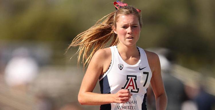 A woman running outdoors